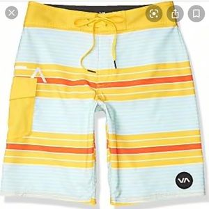 RCVA Uncivil Stripe Boardshort